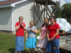 Rebekah, Julianna, Joanna, and Elizabeth are enjoying the chance to spend some time with each other.